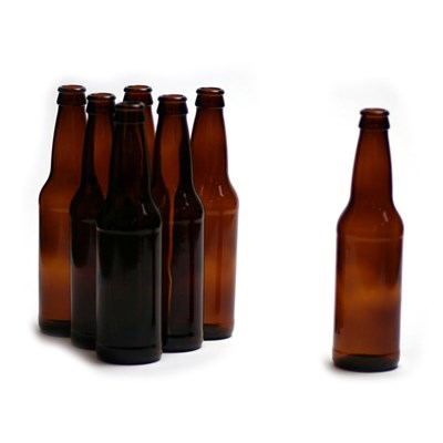 12 oz Amber Beer Bottles - 24/Case