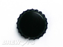 Black Beer Bottle Caps (144 Count) - Home Brewing
