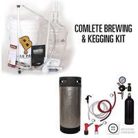 Complete Starter Kit For Homebrewing And Kegging /