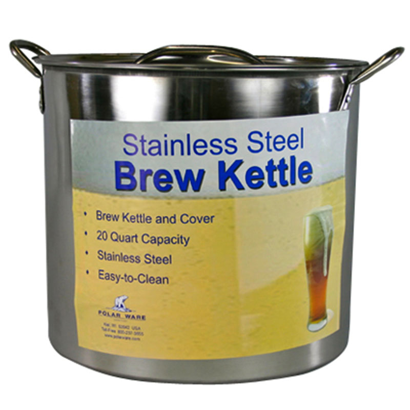 20 Quart Stainless Steel Brew Kettle Stock Pot